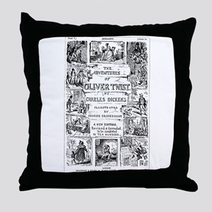 Oliver Twist Throw Pillow